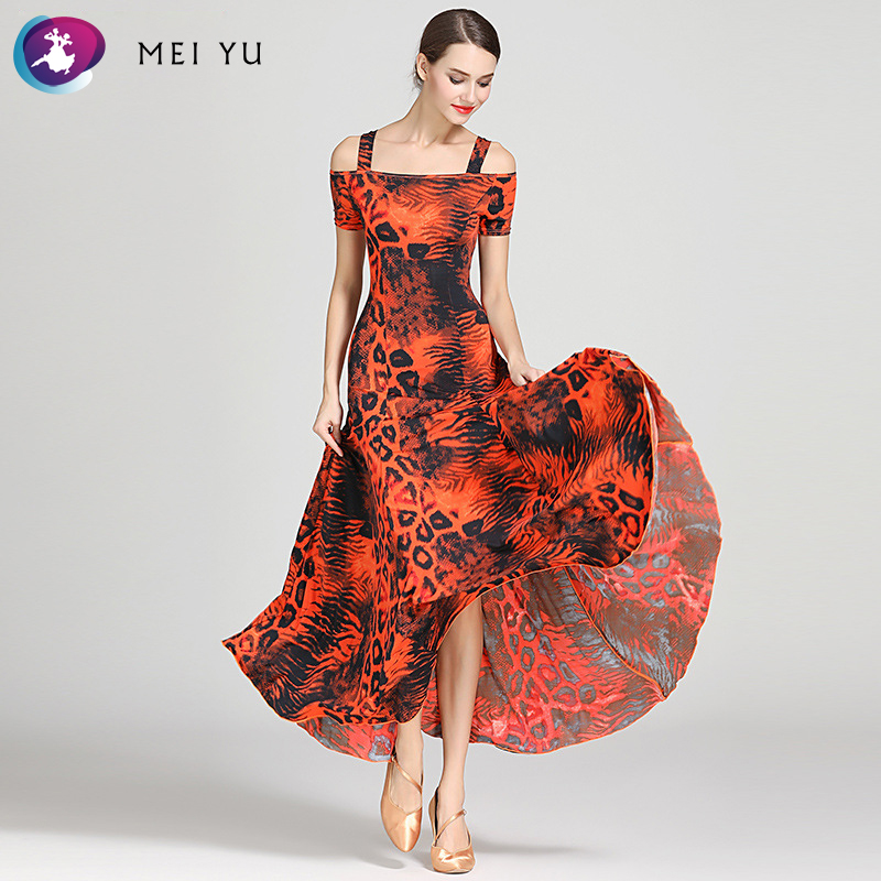 Mei Yu S9040 Modern Dance Costume Women Ladies Dancewear Waltzing Tango Dancing Dress Ballroom Costume Evening Party Dress Providing Amenities For The People; Making Life Easier For The Population Novelty & Special Use Ballroom