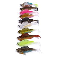 10pcs lead head Swimbaits soft lure 3 inch 3/8oz fishing pike perch Paddle Tail Swimbait Dark Sleeper leurre
