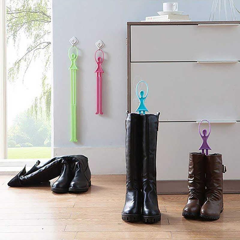 Пластиковые выдвижной зажим для обуви очень легко и удобно использовать держать сапоги в вертикальном положении и держать обувь в хорошей форме