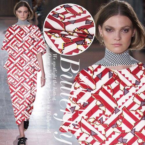 Geometric triangular abstract image printing fashion fabric dress polyester fabric wholesale clothing cloth