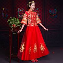 Chinese Star style wedding show Embroidery cheongsam gown robe clothing pratensis dragon gown evening dress noiva Qipao Vestido(China)