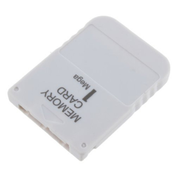 1MB Memory Card Stick Replacement For Playstation 1 for PS One 1 for PS1 for PSX Game System Memory Save Saver Card White image