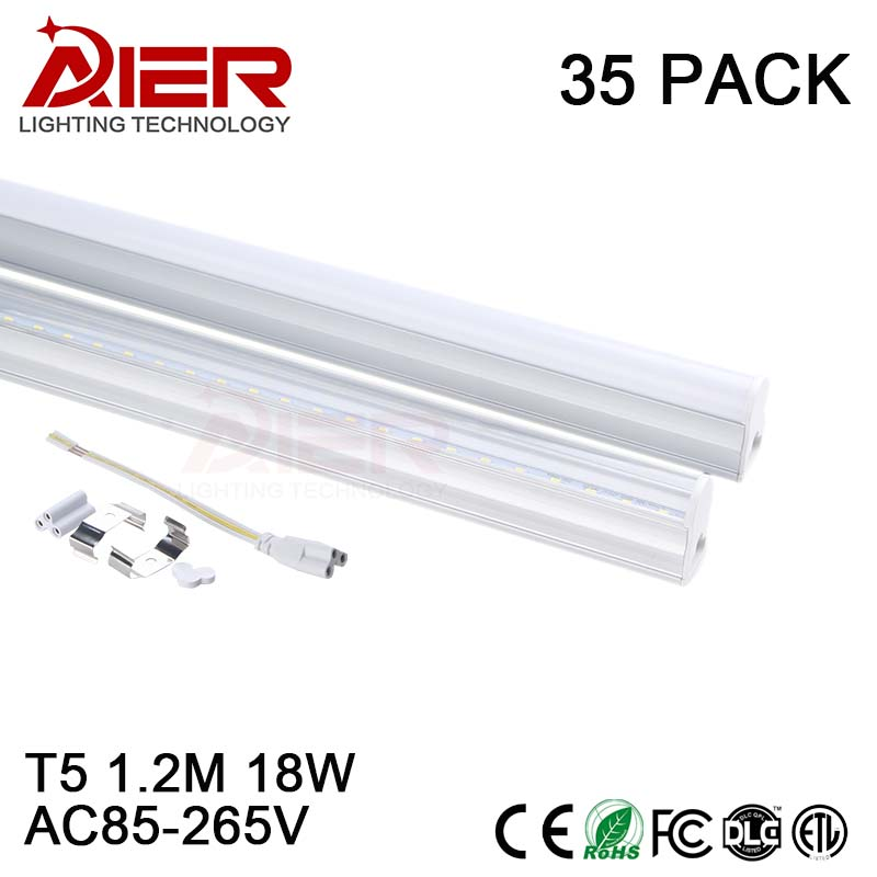 free shipping t5 led tube light 1200mm 18W AC85-265V for decoration, don't need fixture easy installation free shipping 10pcs carton 1 2m 18w 36w led t5 single tube double tube light with shiled to replace 28w 36w traditional light