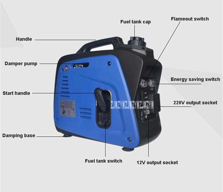 Xyg950i gerador de gasolina inversor digital pequeno