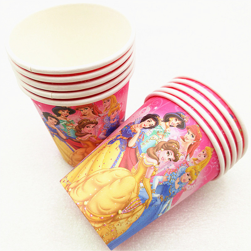 Disney Six Princess Theme Snow White Birthday Party Decoration Cinderella Theme Tablecloth Cup Plate Party Baby Shower Supplies in Disposable Party Tableware from Home Garden