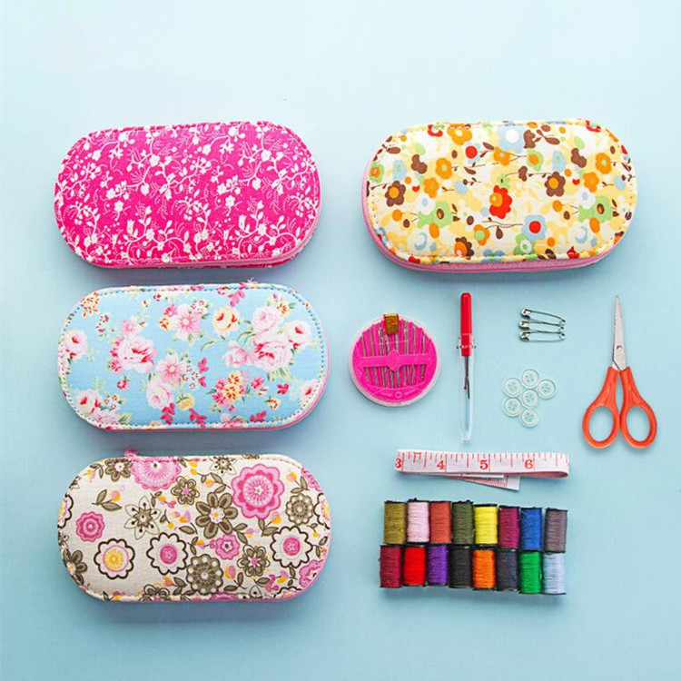 Multifunction Small floral Cloth Box Sewing Kit Needle Tape Scissor Threads Sewing Box Wedding Gifts For Home u0026 Travelling-in Sewing Tools u0026 Accessory from ...  sc 1 st  AliExpress.com & Multifunction Small floral Cloth Box Sewing Kit Needle Tape ... Aboutintivar.Com
