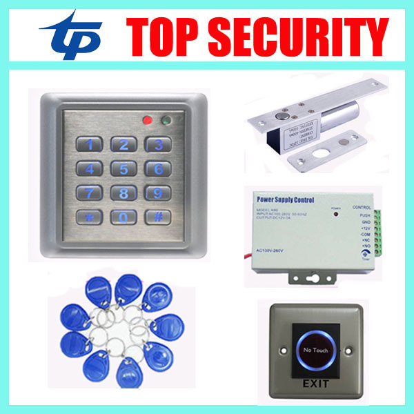 Standalone surface waterproof access control system single door 125KHZ RFID card door access controller smart card reader good quality smart rfid card door access control reader touch waterproof keypad 125khz id card single door access controller