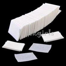 900 Stks/partij Nail Art Wipes lint Papier Pad Polish Cleaner Remover Manicure Nail Schoon Doekjes Katoen