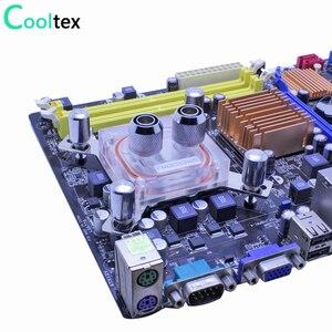 Image 3 - Bloc de refroidissement à eau pour ordinateur intel LGA 775/115x/1366/2011 X99 X79, bloc de refroidissement à eau dunité centrale