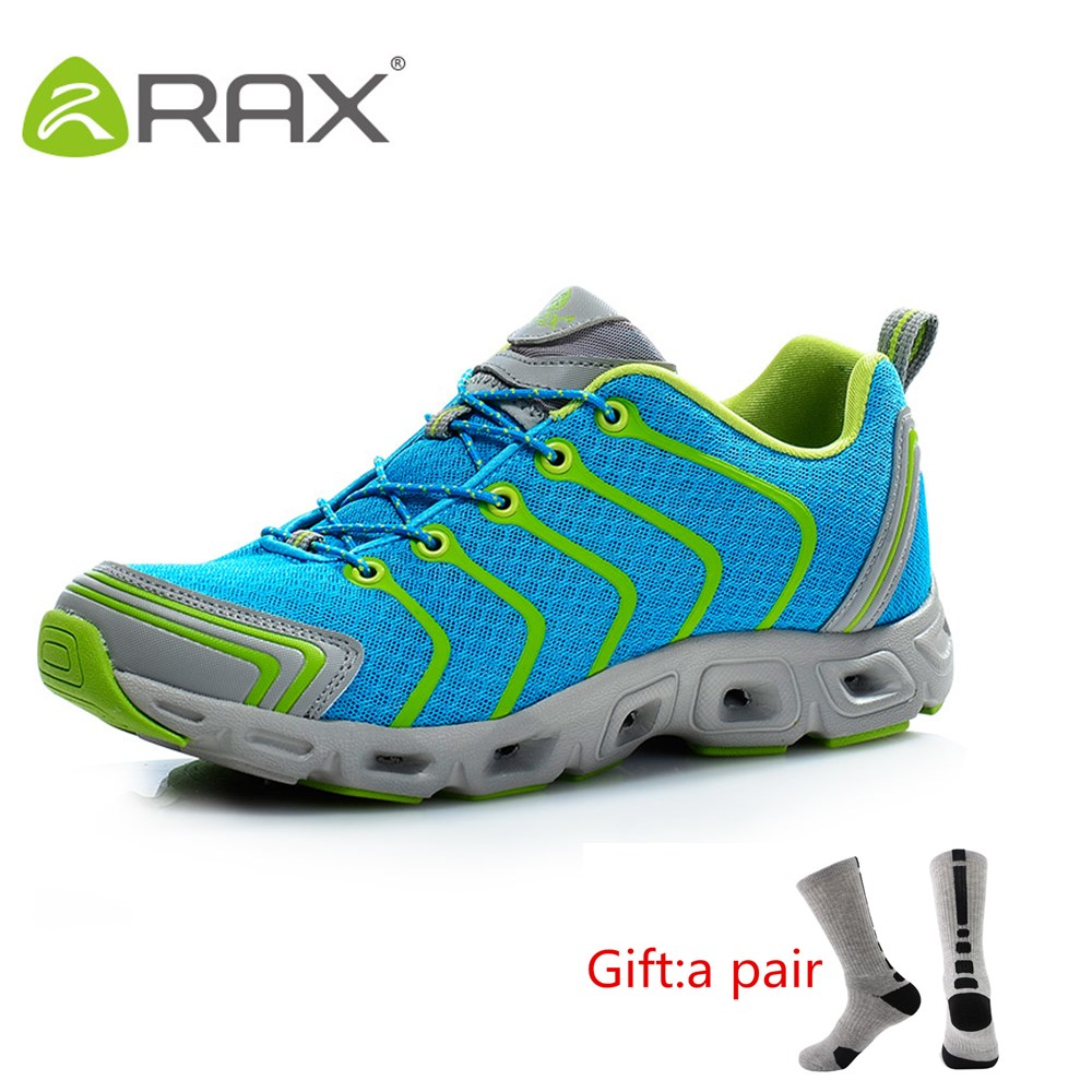 RAX Mens Quick Drying Hiking Shoes Outdoor Water Sneakers Breathable Light Walking Shoes Women With gift
