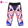 PINK QUEEN New Sailor Moon Print Leggings Lady Fitness Pant 3D Legins Pattern Womens Large Size 4XL Leggins Plus Size Punk Pants