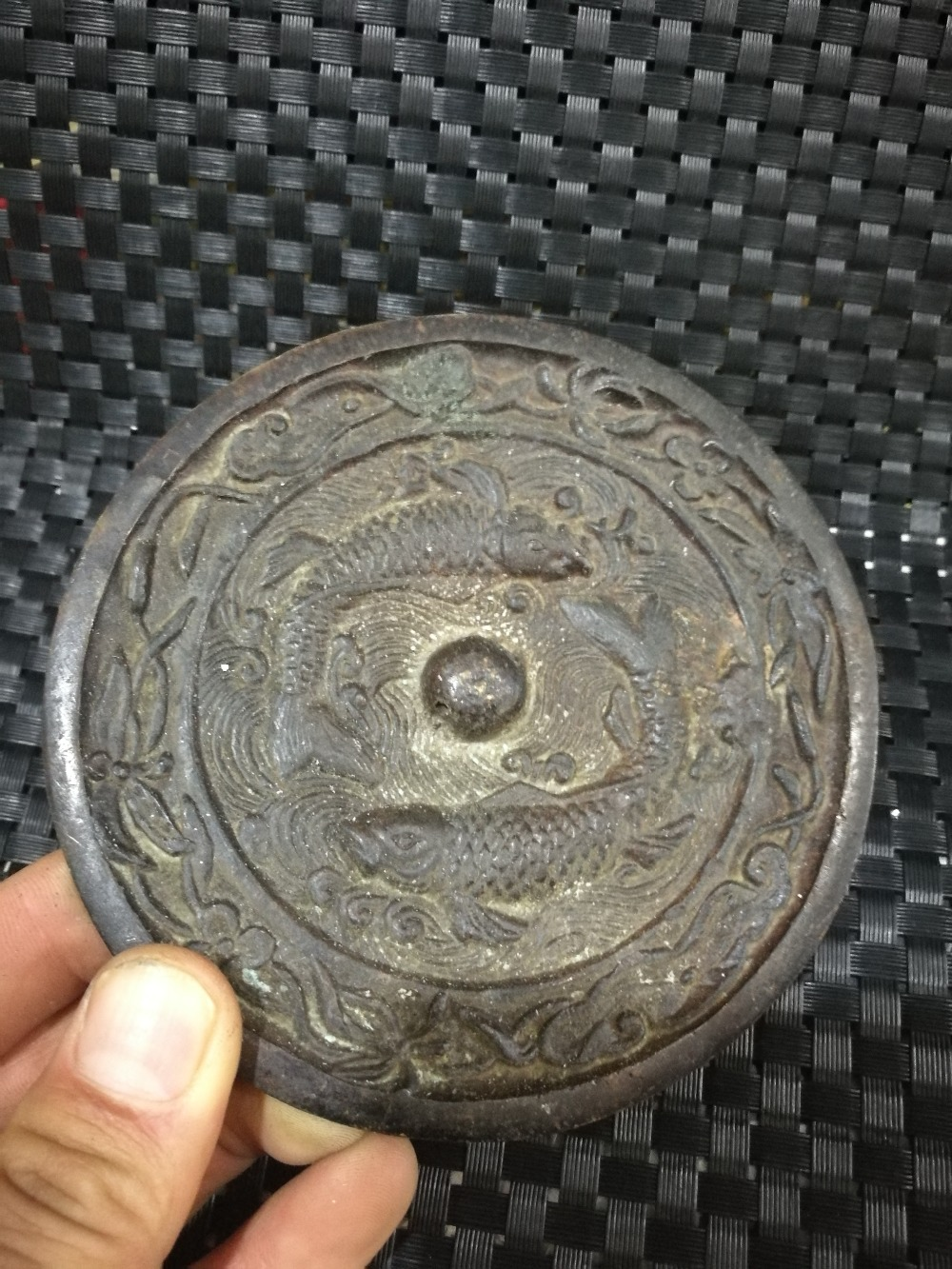 CHINESE OLD Collection Evil slayer bronze mirror feng shui mirror