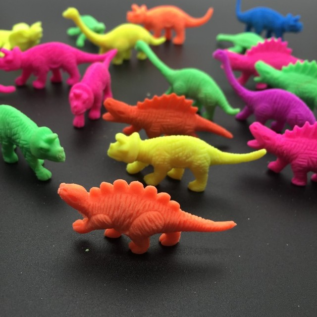 50g/lot Middle Size Dinosaur Shape EVA Growing Up Toys Inflate in water Kids' Favor Toy  Aquarium Home Decoration