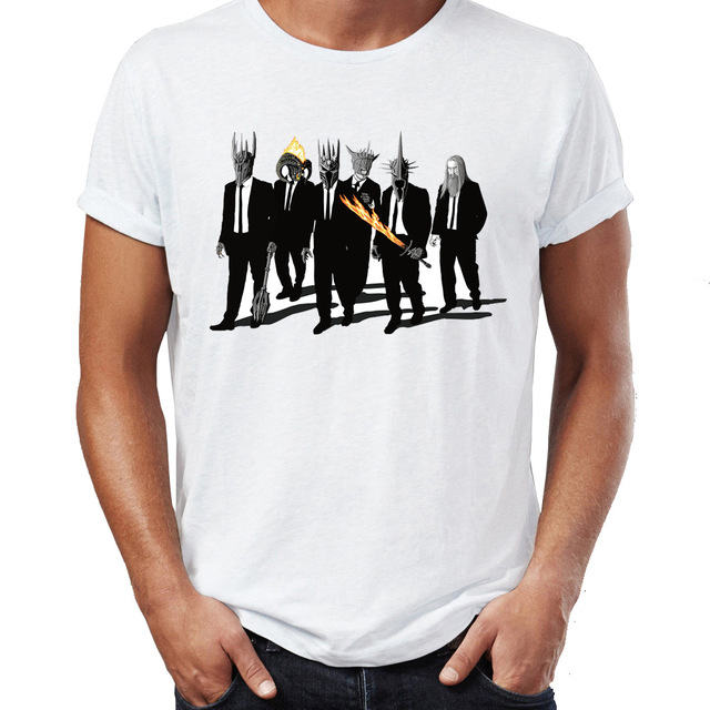 Men's   T     Shirt   Lord of The Rings Villains Sauron Saruman Reservoir Dog Crossover Artwork Awesome Tee