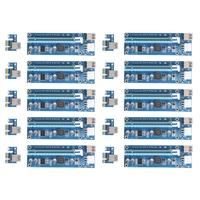 10pcs Lot 1X To 16X Upgraded PCI E Express Riser Card PCI Extender 60cm USB3 0