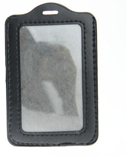 Schwarz Kunstleder Business Id Badge Kartenhalter 11,2*7,2 Cm 10 Stücke