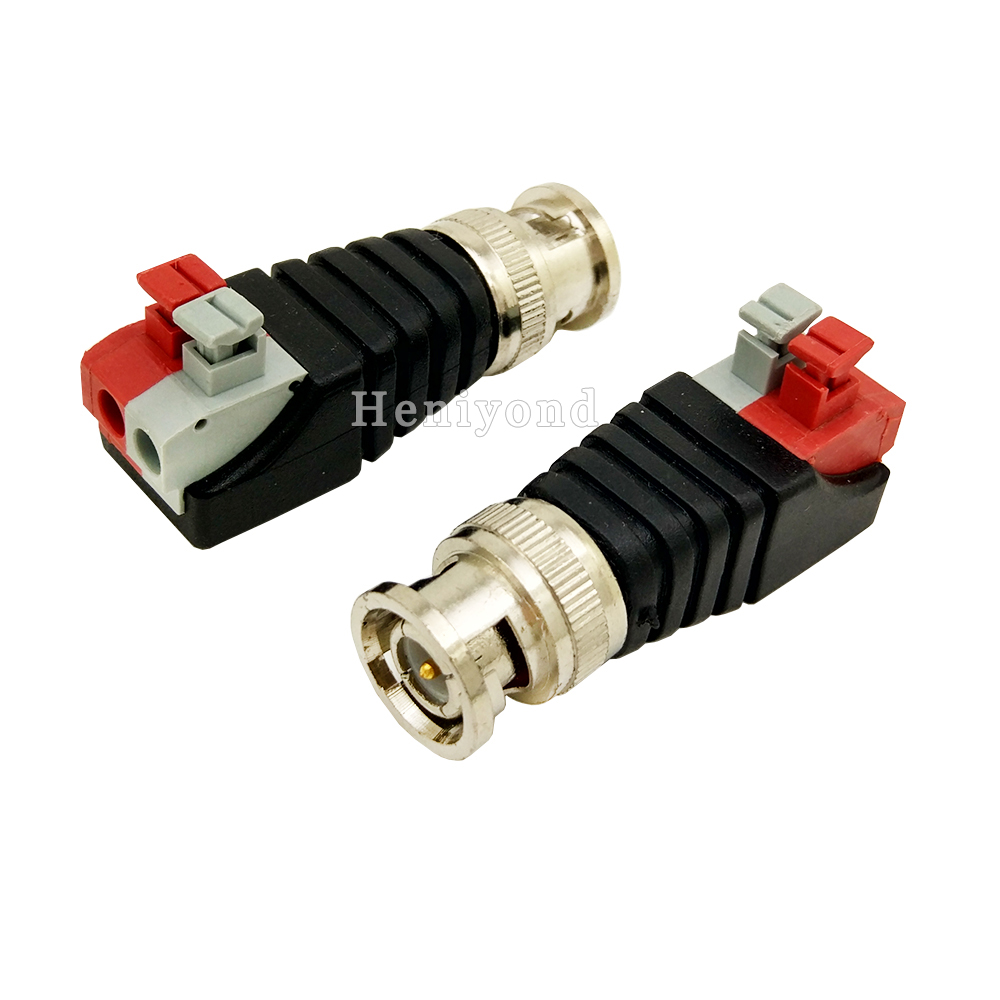 5PCS Coaxial Coax BNC Connector Coax BNC Twist with Push Fastening Type For CCTV Camera Free Shipping цена