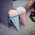 Fashion Cute Ice Cream Cone Ladies Hand Bags Candy Color Woman Bags Mini Coin Bag Girl Tapered Crossbody Bag for phone