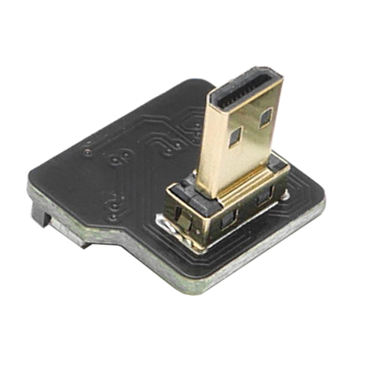 10 pcs/lot câble CYFPV Micro HDMI Type D mâle 90 degrés vers le bas connecteur coudé pour FPV HDTV Multicopter photographie aérienne