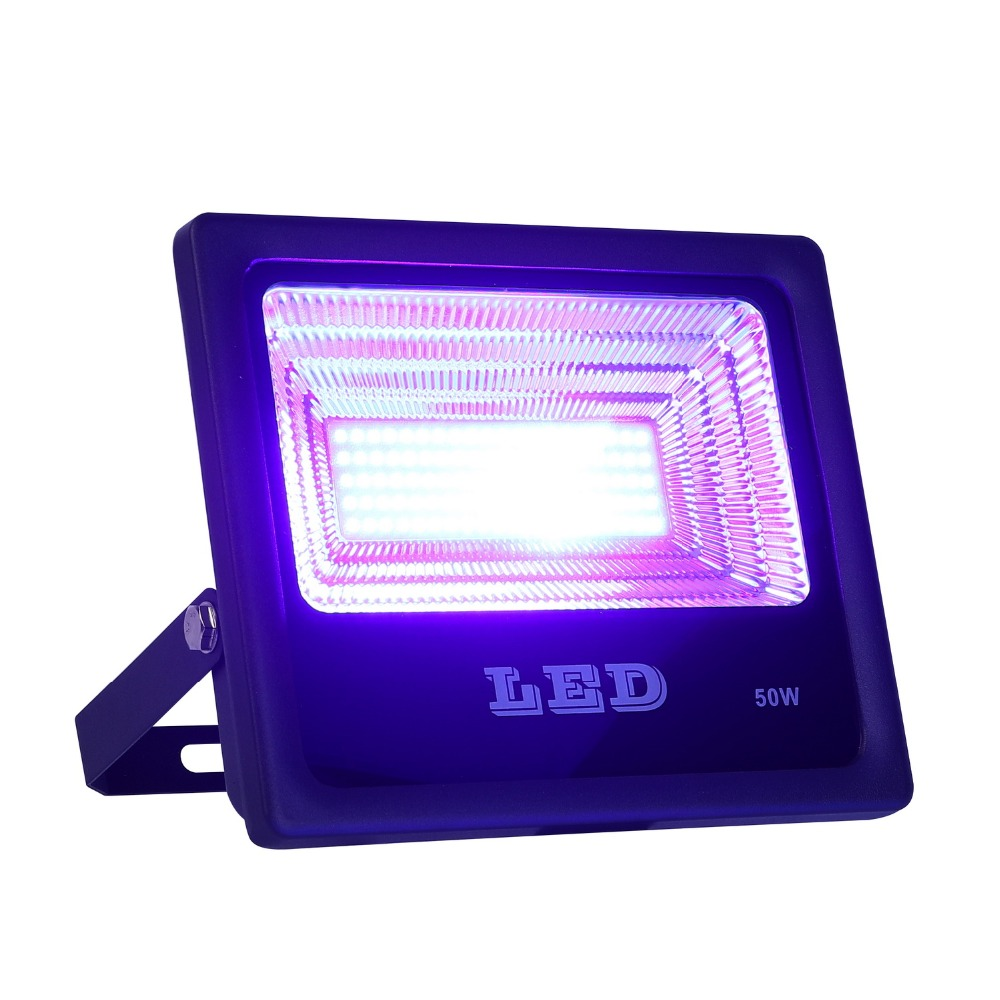50W UV LED Floodlight  Ultra Violet Flood Light Waterproof For Blacklight Party Curing, Glue, Halloween, Fishing Aquarium