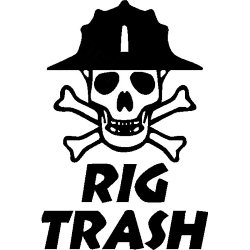 Detail Feedback Questions about 10.3CM 15.2CM Oil Rig Vinyl Decal Rig Trash  Skull Rig Hand Roughneck Oil Field Gas Car Stickers And Decals Black Sliver  C8 ... f9a4a8a16a57