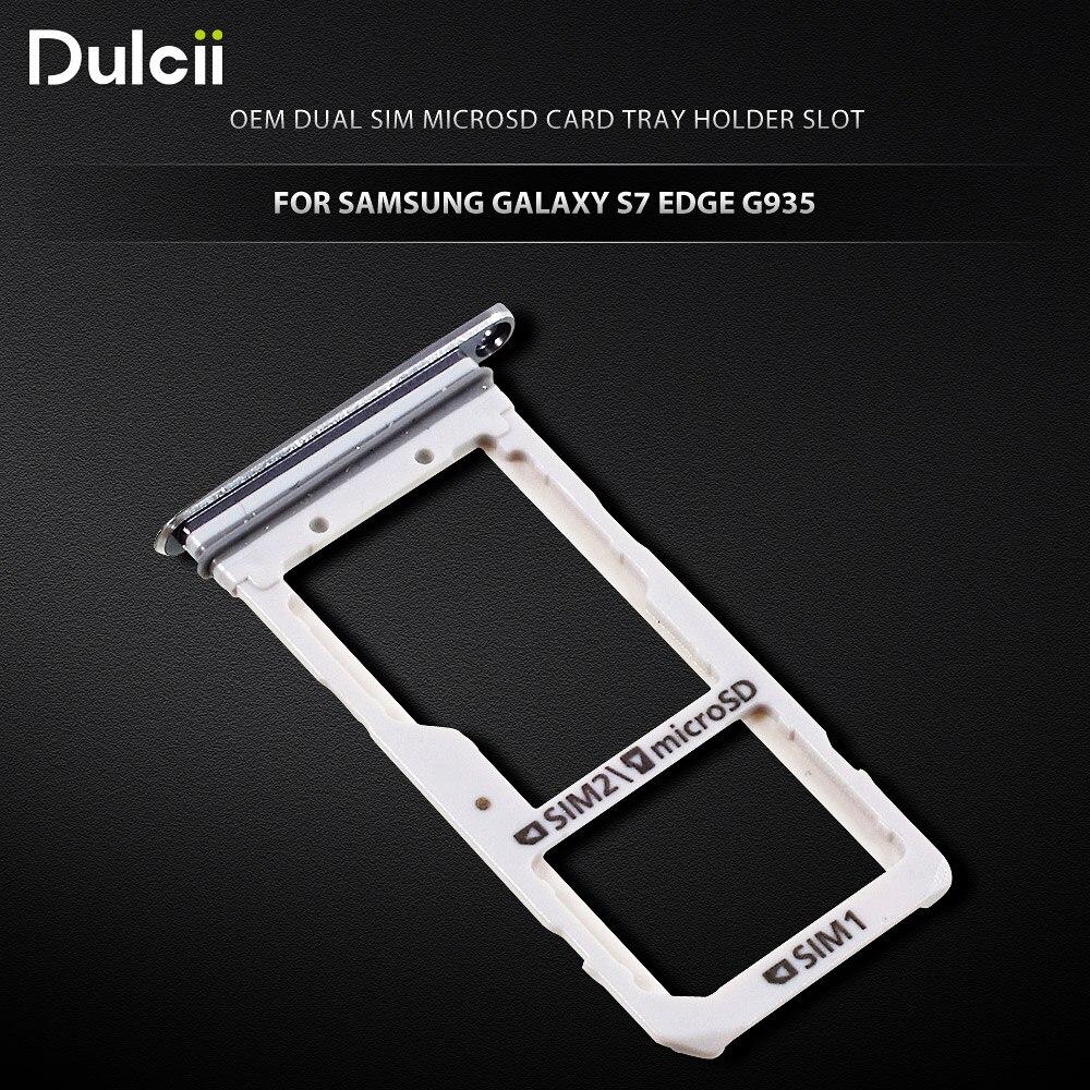 Dulcii for Galaxy S 7 edge OEM Dual SIM MicroSD Card Tray ...