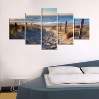 Canvas Paintings Wall Art HD Prints Framework 5 Pieces Beach Landscace Pictures Sand Dunes In North Sea Posters Living Room Deco