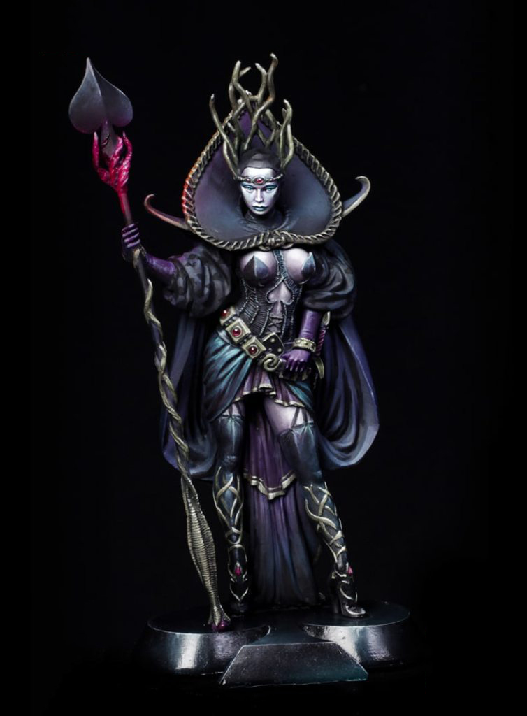 Assembly Unpainted <font><b>Scale</b></font> <font><b>1/24</b></font> 75mm Queen of Spades 75mm fantasy <font><b>figure</b></font> Historical toy Resin Model Miniature Kit image