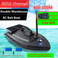 Free Bag extra Battery Remote Contorl RC Fishing Bait Boat 2011 5 500M Double Bait Well Motor1.5KG Load RC intelligent Fish Boat