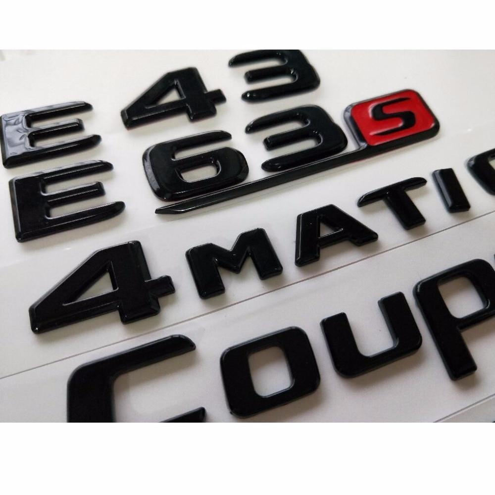 Gloss Black C63s AMG V8 BITURBO 4MATIC Badges Emblems for Mercedes Benz W205