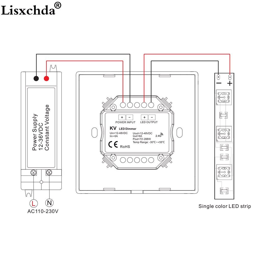 wiring diagram for led dimmer led dimmer 12v 5v 24v 36v pwm wireless rf led dimmer switch on off  led dimmer 12v 5v 24v 36v pwm wireless
