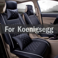 Chair Pad Covers Pu Leather Car Seat Cover Universal Chair Covers Styling Set For Koenigsegg Agera Ccr Ccx One Regera