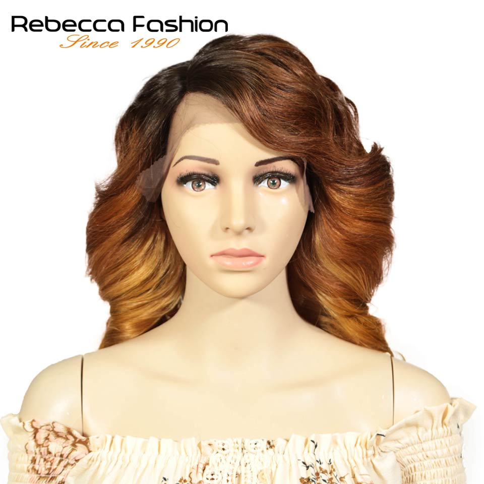 Rebecca L Part Lace Front Human Hair Wigs For Black Women Spiral Curly Peruvian Remy Loose