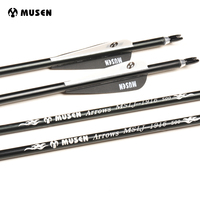30 Inches Spine 500 Aluminium Arrows OD 7 6mm Archery Hunting Arrows For Recurve Compound Bows