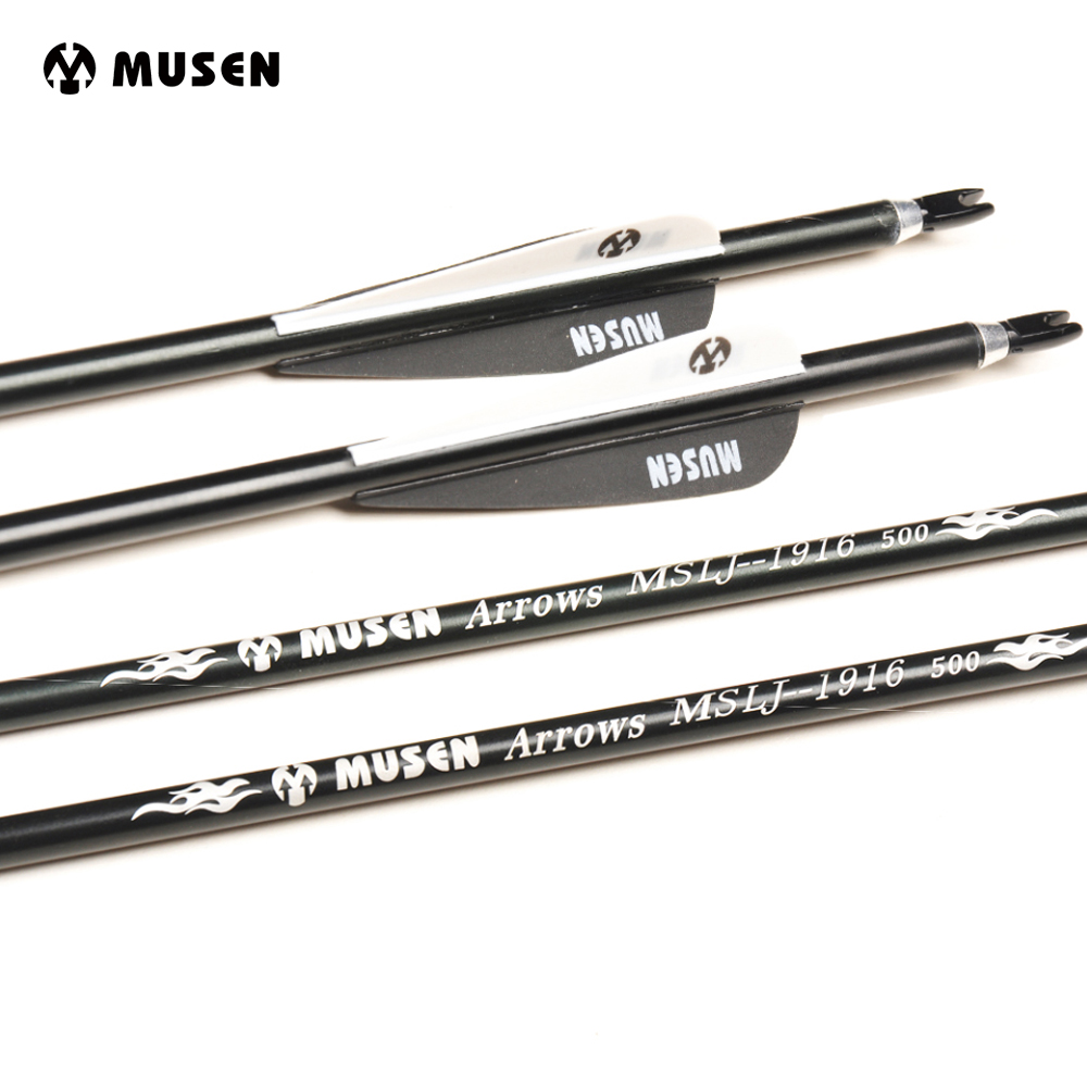 30 Inches Spine 500 Aluminium Arrows OD 7.6mm Archery Hunting Arrows For Recurve Compound Bows Archery Packed In 6/12/24pcs