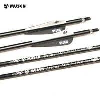30 zoll Wirbelsäule 500 Aluminium Pfeile OD 7,6mm Bogenschießen Jagd Pfeile für Recurve Verbindung Bögen Bogenschießen Verpackt in 6 /12/24 stücke