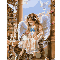 Y20 Creative Framless Angel Picture Digital DIY Oil Painting On Canvas Painting By Numbers For Home