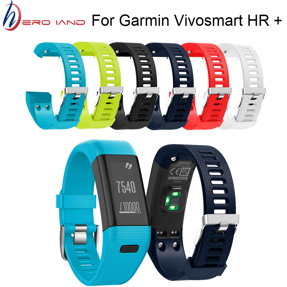 Hero Iand For Garmin Vivosmart HR+ Replacement Soft Silicone Bracelet Sport Strap WristBand Accessory Drop Shipping