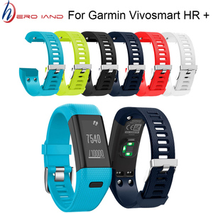 Image 1 - Hero Iand For Garmin Vivosmart HR+ Replacement Soft Silicone Bracelet Sport Strap WristBand Accessory drop shipping