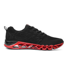 цены 2018 spring new blade shoes breathable wear-resistant running shoes shock-absorbing mesh running shoes flying black sports shoes