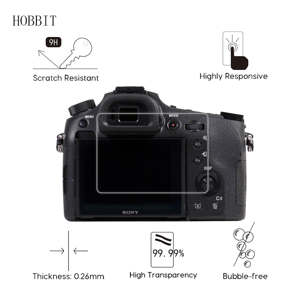 US $3 59 28% OFF|For Sony DSC RX1 RX1R RX10 RX10II RX10III RX10IV RX10V  0 3mm 2 5D 9H Clear Tempered Glass Screen Protector Digital Camera Film-in