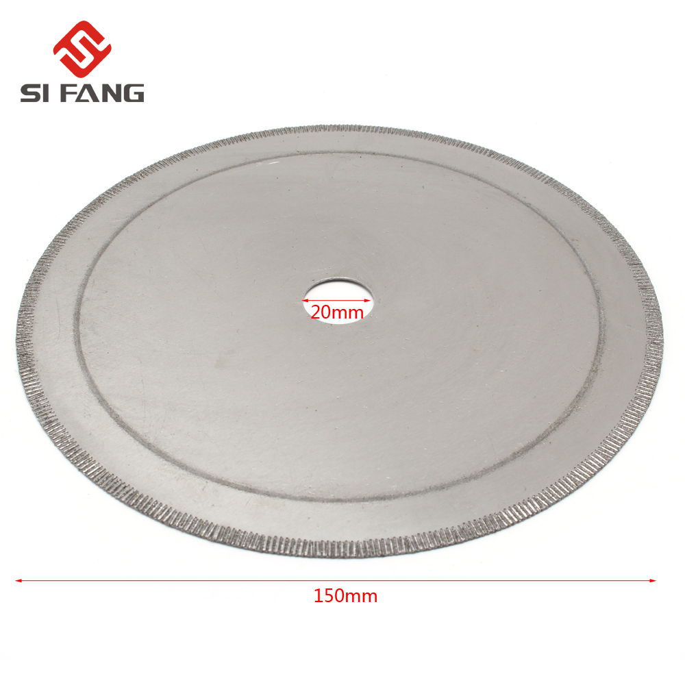 150mm 6inch Super-Thin Diamond Saw Blades Lapidary Cutting Disc Saws Jewelry Tools Straight Slice