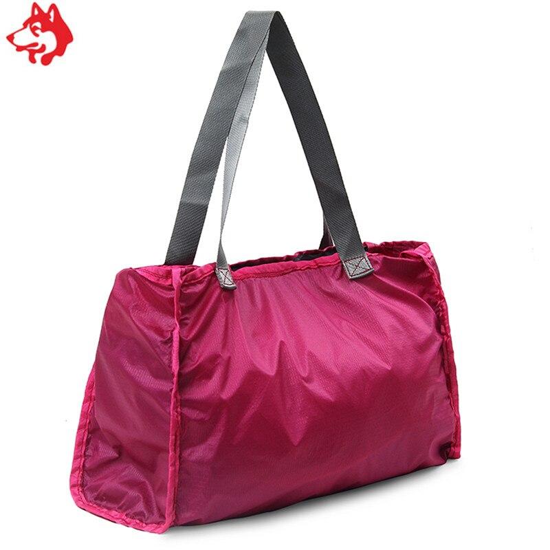 Купить с кэшбэком 30L Rose/Red/Green/Blue Foldable nylon hand bag  two functions camping hiking backpack bag travel camping bag