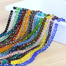 Wholesale Faceted Rondelle Beads 6/8/10mm Crystal Glass Loose Round Chinese Beading Crafts Materials For Making Jewelery