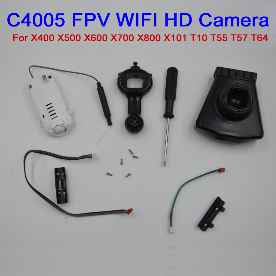 C4005 WIFI FPV Aerial HD Camera Component For MJX X400 X500 X600 X700 X800 X101 T10 T55 T57 T64 RC Quadcopter Drone Spare Parts jjr c jjrc h43wh h43 selfie elfie wifi fpv with hd camera altitude hold headless mode foldable arm rc quadcopter drone h37 mini