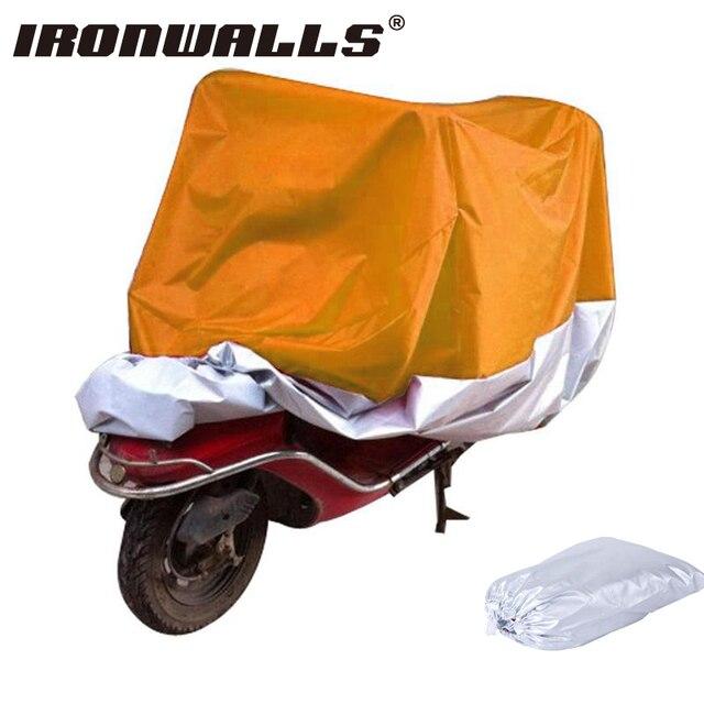 Orange/Серебряный Мотоциклов Обложка L Размер Открытый Дождь УФ Снежной Пыли Защита Пыле Sunoroof Для Honda Yamaha Suzuki Kawasaki