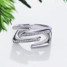 Ol unqiue кольцо Простой дизайн линии микро проложить белый