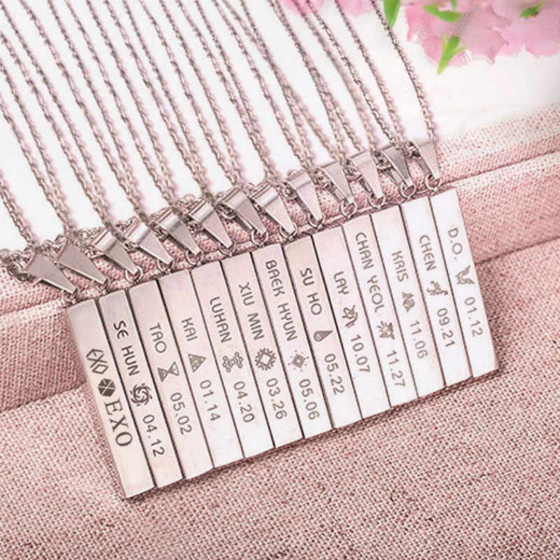 KPOP EXO EX'ACT Monster Lucky One Chain Pendant Necklace K-POP Accessories Jewelry For Music Men Or Women Boy Girl