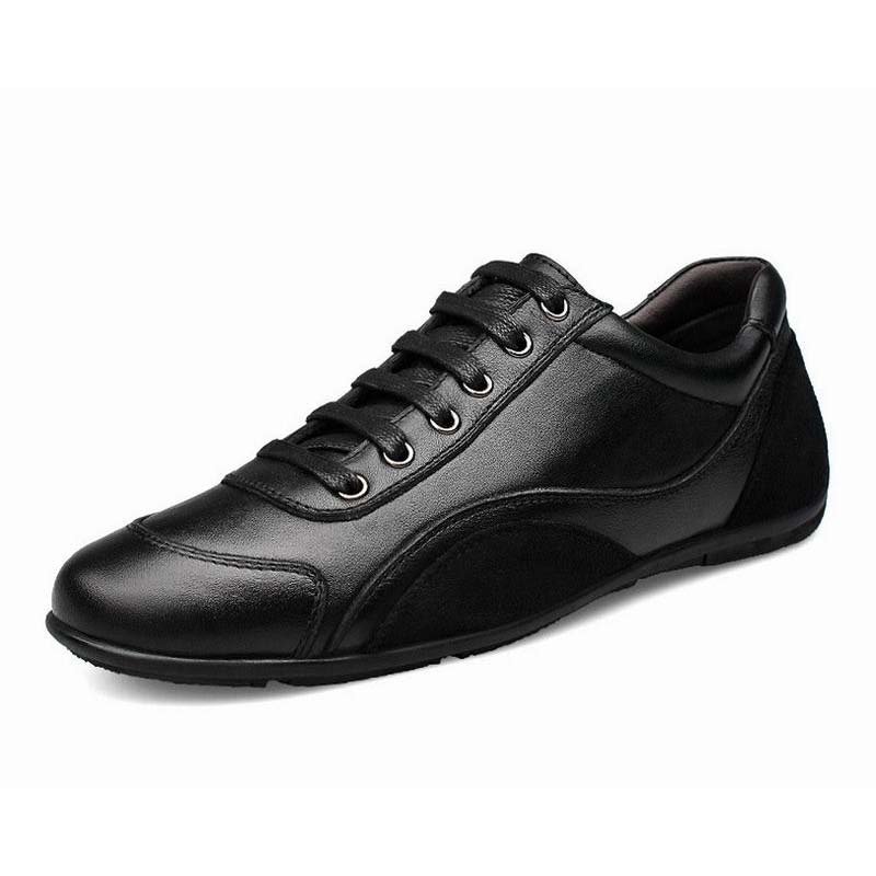 big size 36-46 hot 2016 Brand Fashion Genuine Leather Shoes Unisex Casual Shoes high quality Top Luxury Flats Men Dress Shoes