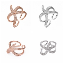 XKXLHJ New Jewelry Creative Opening Function Starfish Ring Rose Gold Silver Simple Exquisite Beach Gift, Couple